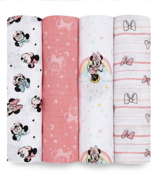 Aden + Anais: Minnie Rainbows Disney Baby Swaddleplus - (4-Pack)