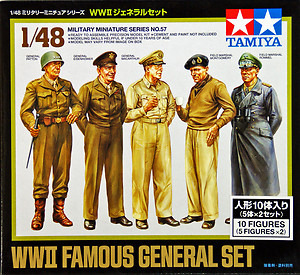 Tamiya WWII Famous General Set 1:48 Kitset Model
