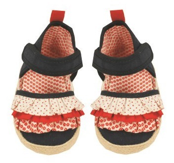 Hi-Hop Denim Bow Girl's Shoes (18-24 Months)