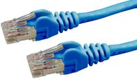 DYNAMIX Cat6 UTP Patch Lead (T568A Specification) 250MHz Slimline Snaggles Moulding - Blue (0.3m)