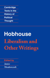 Cambridge Texts in the History of Political Thought by L.T. Hobhouse
