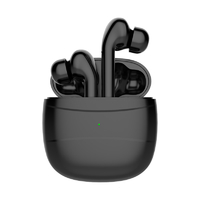 Bluetooth 5.0 True Wireless Earbuds Noise Cancelling TWS headphone with Charging Case - Black