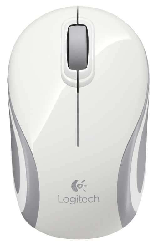Logitech M187 Wireless Mini Mouse (White)