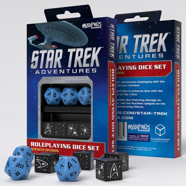Star Trek Adventures Dice Set: Blue & Black