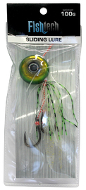 Fishtech 100g Slippery Slider Lure - Green image