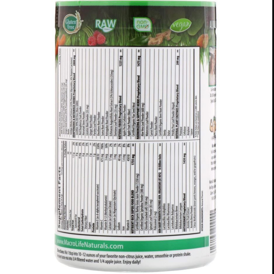 MacroLife Naturals Macro Greens (30 servings) image