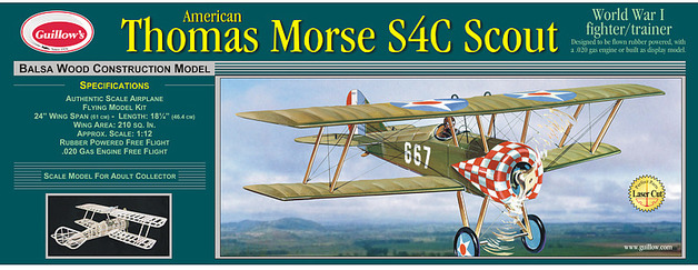 Thomas Morse Scout 1:12 Balsa Model Kit