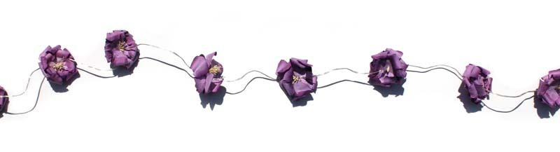 Battery String Lights Nz : Delight Decor: Chain Battery Rose Puff String Lights- Lilac at Mighty Ape NZ