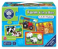 Orchard Toys: Farm Four in a Box - Jigsaw Puzzle