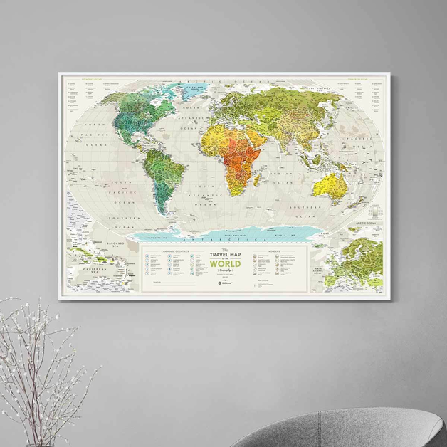 Scratch-off maps Travel Map Geography World