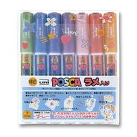 POSCA Fine Glitter 7 Color Set image