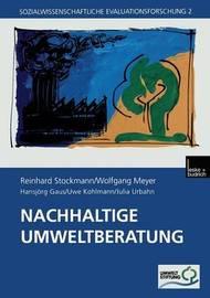 Nachhaltige Umweltberatung by Reinhard Stockmann
