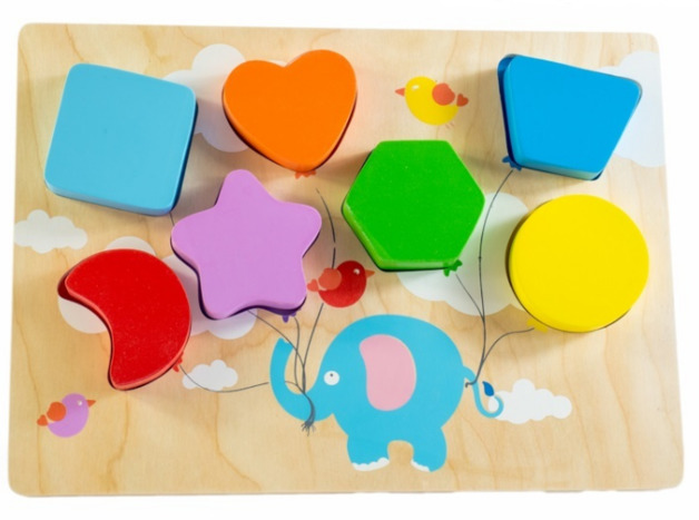 Kiddie Connect: Chunky Shape Puzzle - Flying Ballon