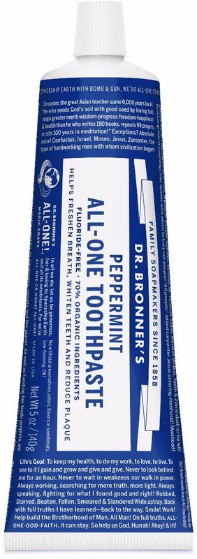 Dr. Bronner's All-One Toothpaste - Peppermint (140g)