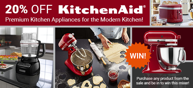 20% off KitchenAid!
