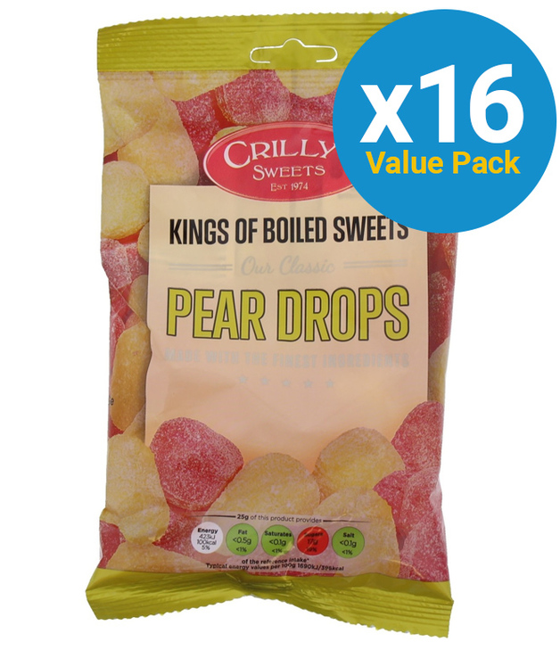 Crillys: Pear Drops 150g (16 Pack)