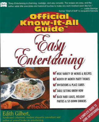 Easy Entertaining by Edith Gilbert image