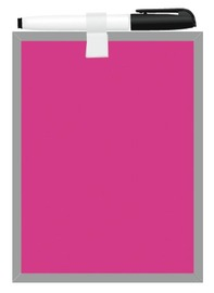 FM Magnetic Whiteboard Pink