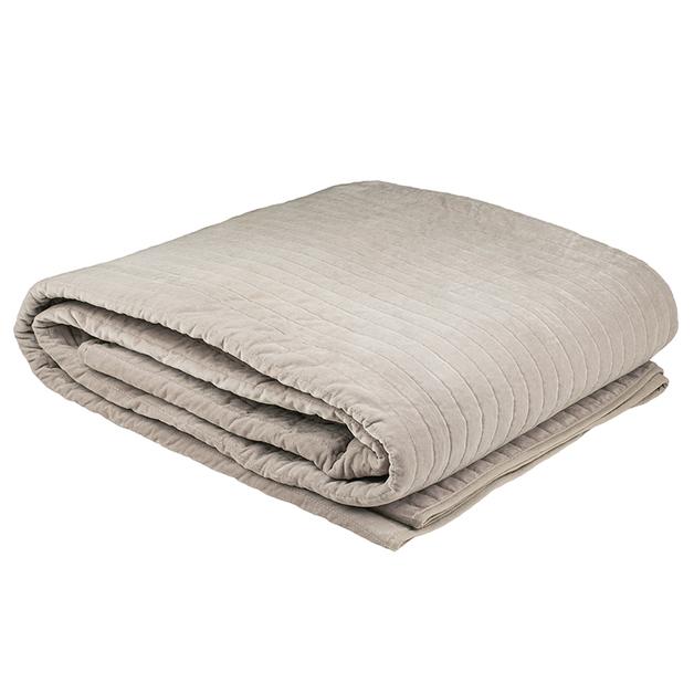 Bambury Cotton Velvet Blanket (Ash)