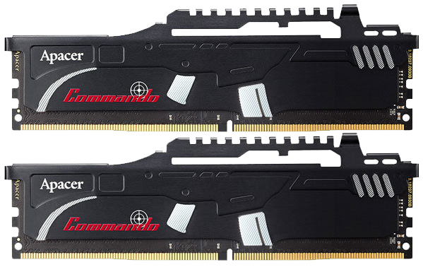 2x4GB Apacer Commando 2400MHz DDR4 Gaming RAM