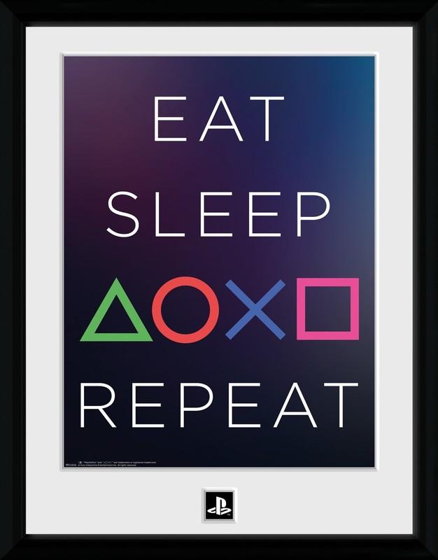 PlayStation: Eat Sleep Repeat - Collector Print (41x30.5cm)