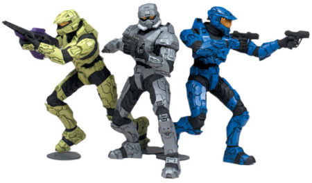 Halo Heroic Collection Action Figures Lone Wolves 1 (pack of 3)