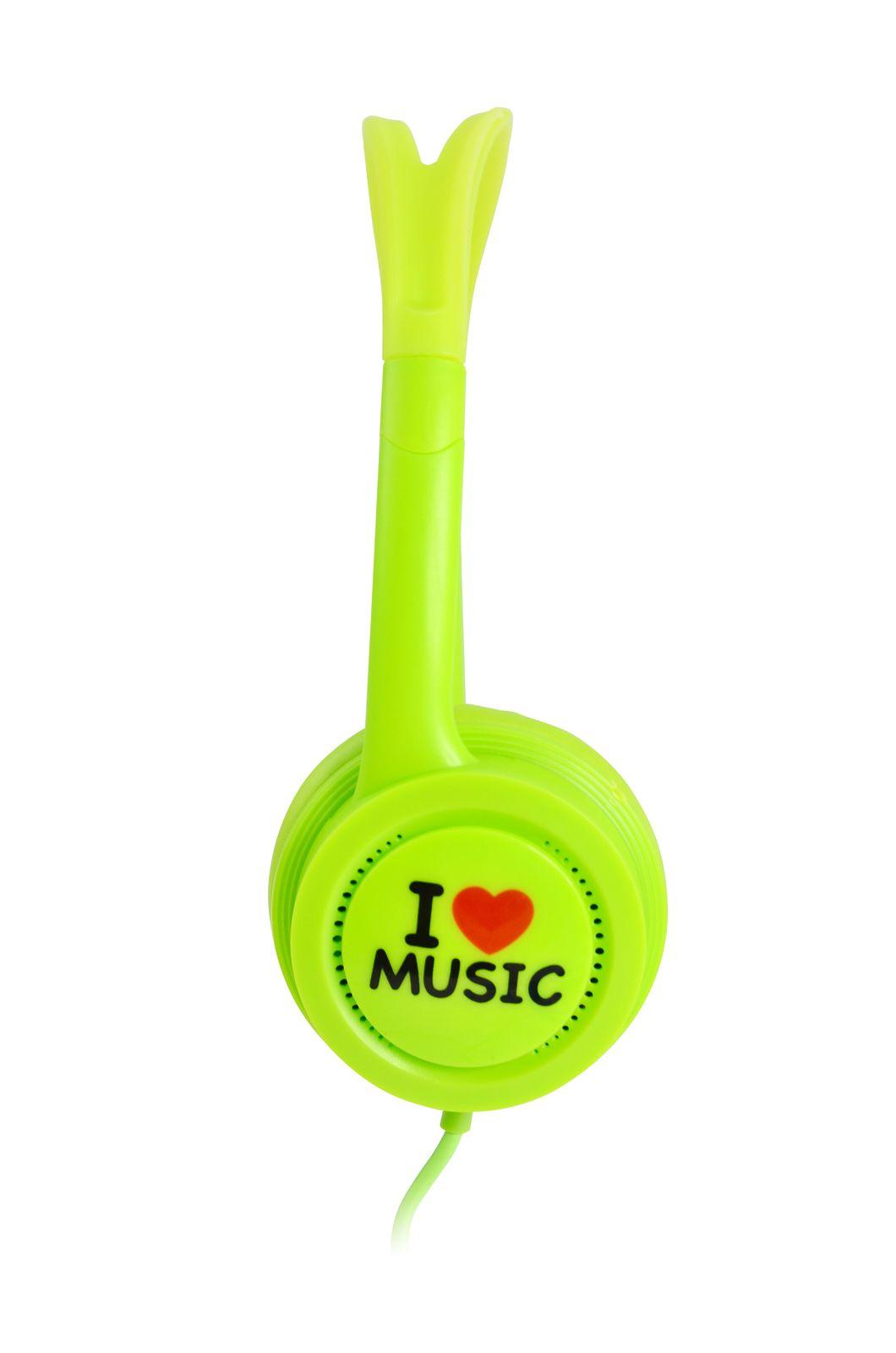iDance Hedrox Junior Volume Limiting Kids Headphones - Green image