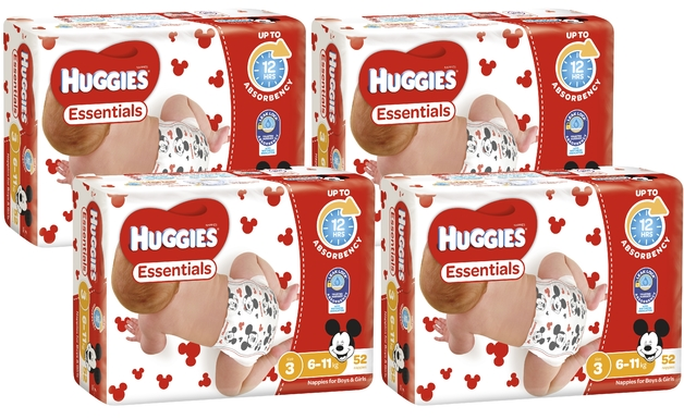Huggies Essentials Nappies Bulk Shipper - Crawler 6-11kg (208)