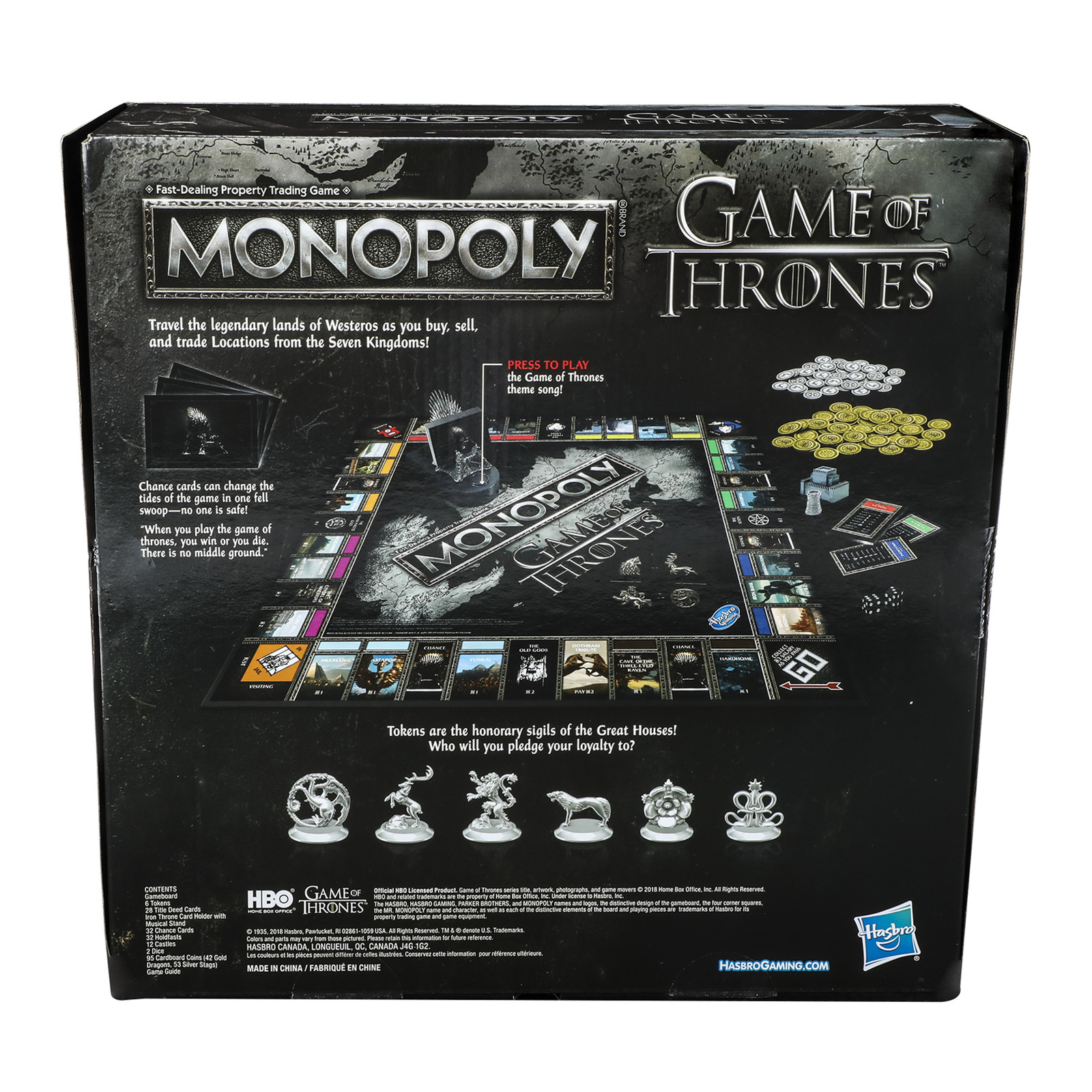 Monopoly: Game of Thrones - Adult Edition image