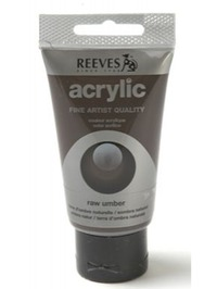 75ml Reeves Fine Acrylic - Raw Umber