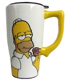 The Simpsons: Homer with Donut - Ceramic Travel Mug