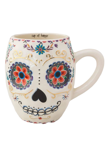 Natural Life: Folk Mug - Sugar Skull