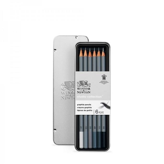 Winsor & Newton: Studio Sketching Pencil - Tin of 6