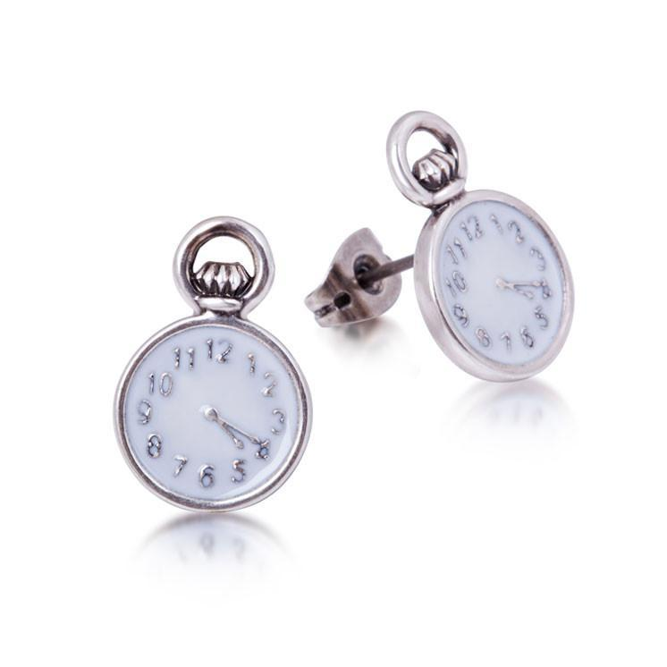Disney Alice in Wonderland Pocket Watch Earrings image