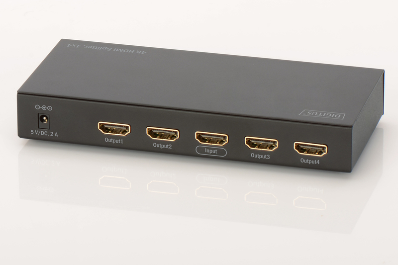 Digitus 4K HDMI 4-Way Powered Splitter image