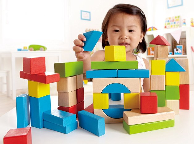 Hape: Maple Wood Blocks - 50pc Set