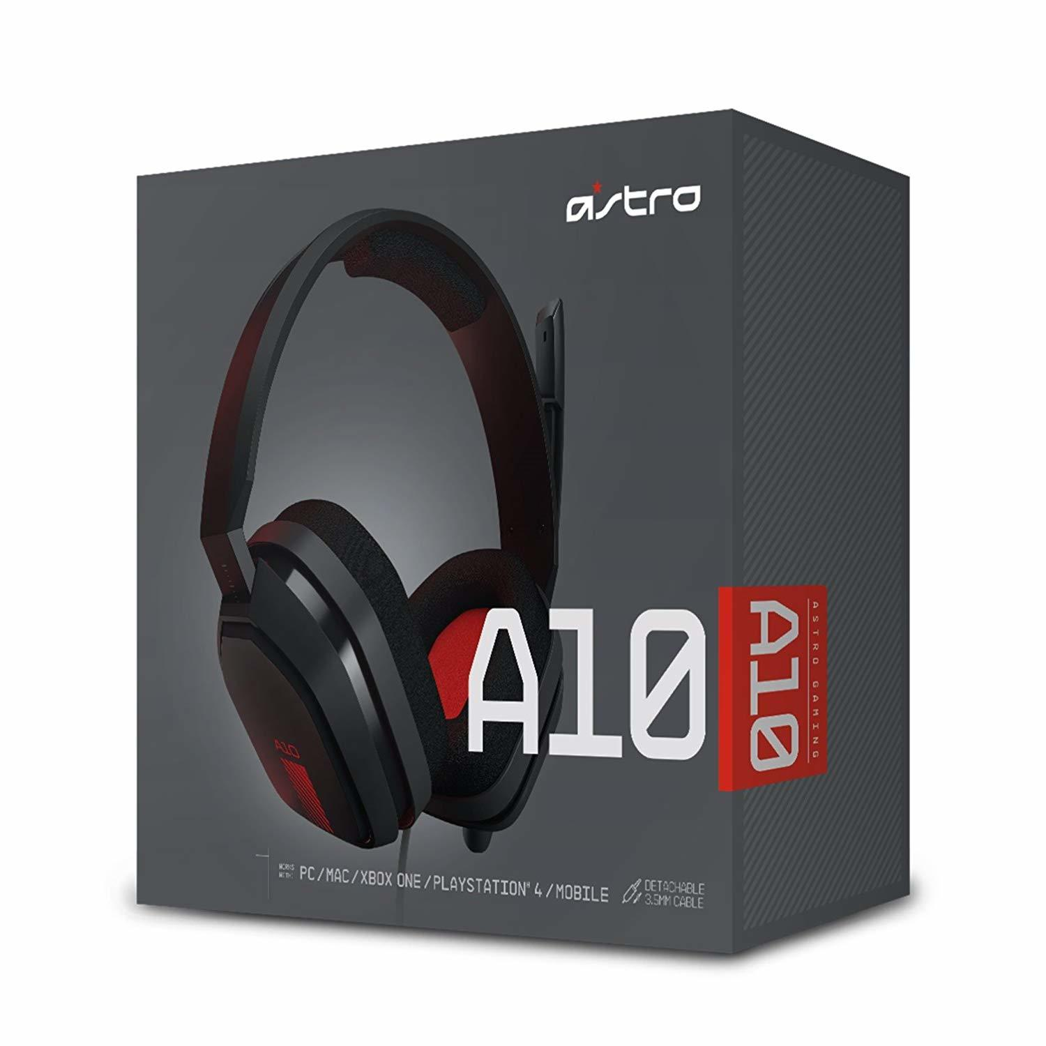 Astro A10 Wired Headset (Grey/Red) for PC image