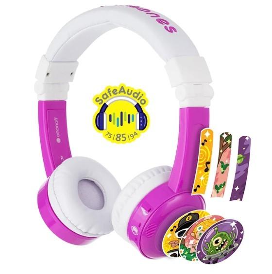 BuddyPhones: Inflight Volume-Limiting Kids Headphones - Purple