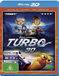 Turbo on Blu-ray, 3D Blu-ray