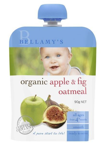 Bellamy's - Organic Apple & Fig Oatmeal (90gm)