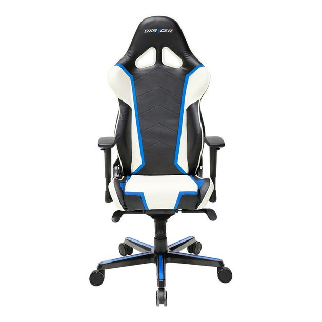 dxracer racing series rh110 gaming chair black white blue