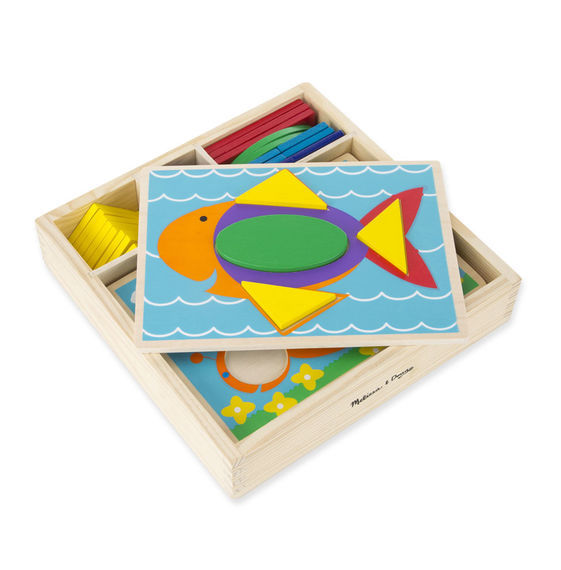 Beginner Wooden Pattern Blocks - Melissa & Doug image