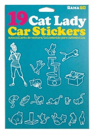 Gama-Go: Cat Lady - Car Sticker Set (19pc)
