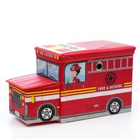 Foldable Fabric Toy Box - Fire Engine (Red)