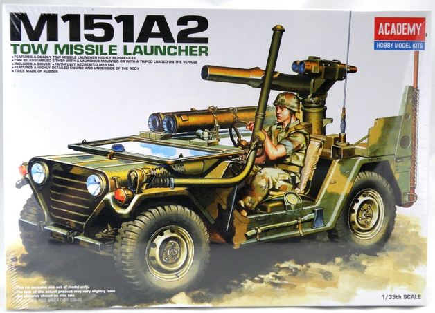 Academy 1/35 M151A2 Tow Missile Scale Model Kit