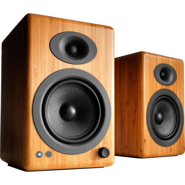 Audioengine: 5+ Wireless Powered Speakers (pair) - Solid Bamboo
