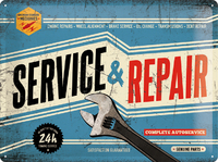 Nostalgic Art: Tin Sign - Service & Repair