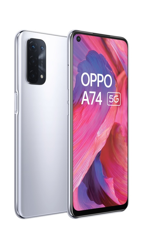 OPPO A74 5G (128GB/6GB) - Space Silver