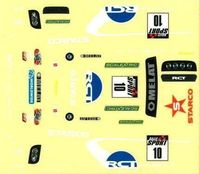 Scalextric Sticker Decal Sheet for Scalextric Start World Rally Set