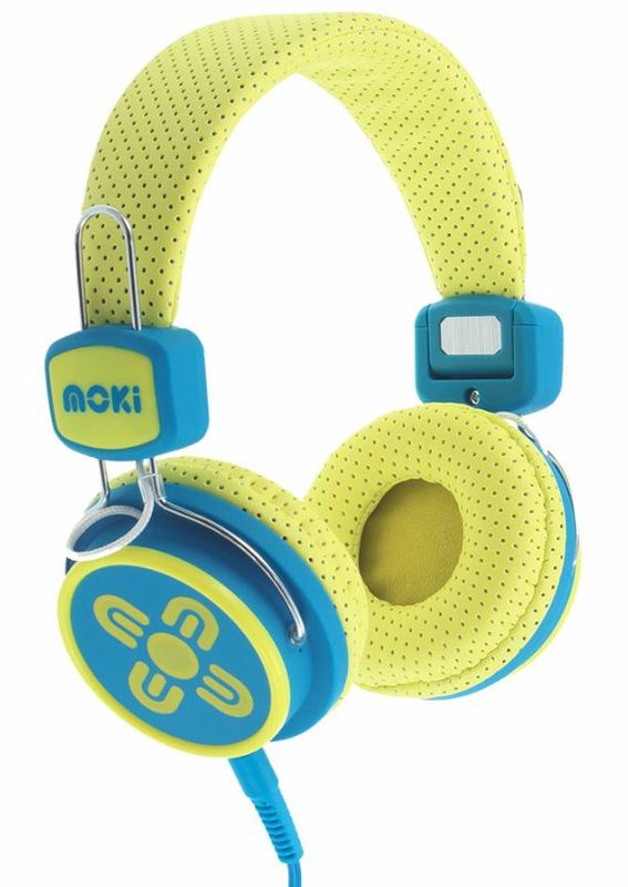 Moki Kids Safe Headphones - Yellow/Blue